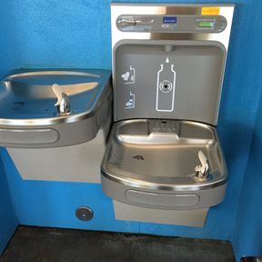 Folsom Community College water fountain
